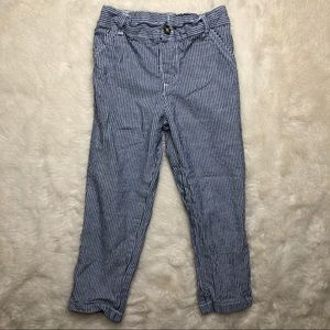 George Blue & White Striped Pants Size 4T